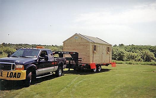 10' X 16' Shed Delivery