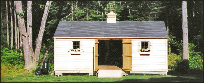 Wood shed san jose sheds lyman maine small outbuilding for Garage kits maine